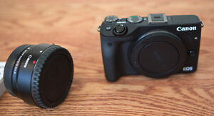 Canon EOS M3 Body INCLUDING Mount Adapter EF-EOS M