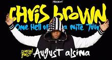 Chris brown Ticket x2 Gold Reserved Seating Melbourne City North Canberra Preview