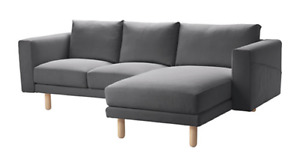 Grey Couch (Loveseat with chaise)
