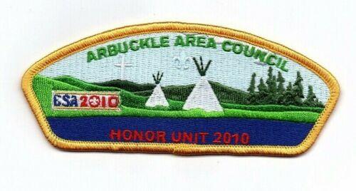 Boy Scout Arbuckle Area Council 2010 Honor Unit CSP/SAP