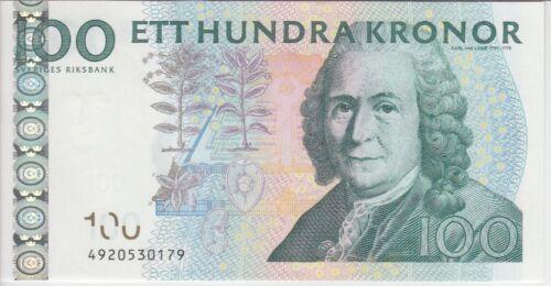 Sweden Banknote P65c 100 Kronor (201)4 Sig Ingves, UNC