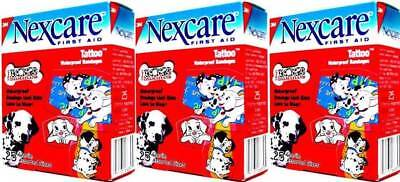 - (3) 3M Nexcare Disney 102 Dalmatians Tattoo Waterproof Assorted Bandages 75 Ct.