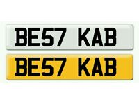 Personalised registration Private number plate taxi cab driver chauffeur cabby KAB