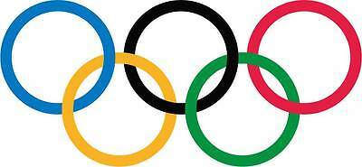 OLYMPIC GAMES LOGO Rims Decal Removable WALL STICKER Home Decor Art Rings Sports](Olympic Rings Decorations)