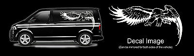 1 Metre Eagle In Flight Hunting Falconry Bird Of Prey Van Car Sticker Decal