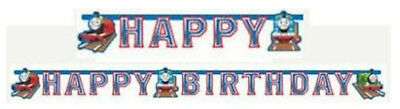 Boys Girls Birthday Party Thomas The Tank Engine 'Happy Birthday' Letters Banner (Thomas The Tank Engine Party)