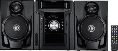Sharp 240W 5-Disc Mini Shelf Audio Speaker System w/ Bluetooth & Cassette Player