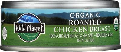 Wild Planet-ORGANIC ROASTED CHICKEN BREAST, Pack of 12 ( 5 OZ ) Organic Chicken Breasts