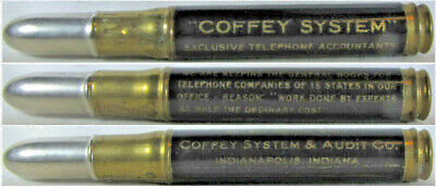 RESTORED Vintage Bullet Pencil - Coffey Systems, Telephone Accountants BS-1405