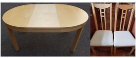 Ikea Round Bjursta Extending Dining Table & 6 Chairs FREE DELIVERY 130
