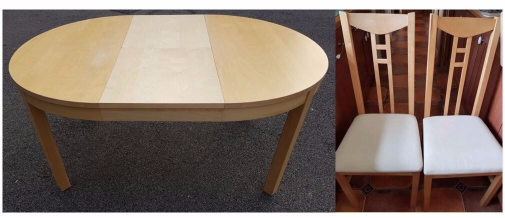 old dining chairs leicester. ikea round bjursta extending dining table \u0026 6 chairs free delivery 456 old leicester h