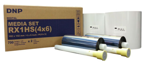 DNP RX1HS 4x6 Media Print Kit for RX1 and RX1HS, 2 sets paper & ink,1400 Prints