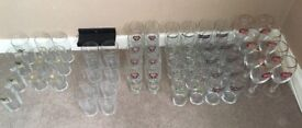 60 x unused Pint glasses to clear