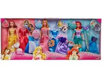 ***BRAND NEW*** BNIB Disney princess rags to riches 12 piece doll and dress gift set