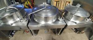3x 40 Gallon Steam Kettle Setup With Generator