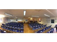Church Hall for Hire. Main hall seats 100, Committee room, kitchen toilets and parking onsite