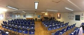 Church Hall for Hire - seats 100, fully fitted kitchen, small meeting room, disabled access