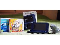 Nintendo NEW 3DS XL+ Pokemon Sun + Steel Diver + Original Charger -> All in Excellent Condition !