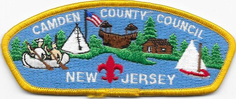 Camden County Council Strip Plastic Back CSP SAP Boy Scouts of America BSA