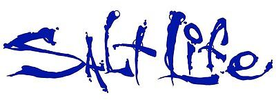 """Salt Life Signature """"BLUE 06 inch Small Decal - UV rated vinyl *FREE SHIPPING*"""