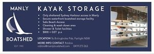 KAYAK STORAGE - MANLY BOATSHED, (FAIRLIGHT NSW) Fairlight Manly Area Preview