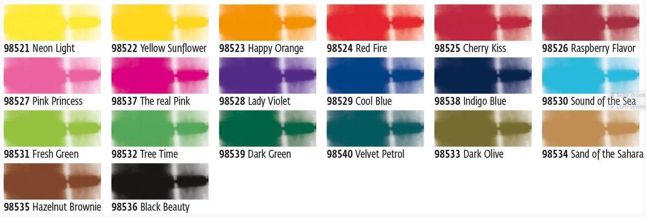 Javana Batikfarben Auswahl aus 20 Farben