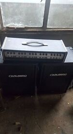 Carlsbro beta 115 - 300 watt pa system with stands and head