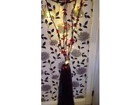 Gorgeous 3ft Vase with a 4ft crystals, beads & lights wrapped around twigs display