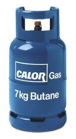 calor gas bottle for a canper van 7kg over half full