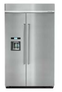 KITCHENAID NEW KBSD608ESS 29.5 CU FT FRIDGE WITHWATER AND ICE DISPENSER(BD-1581)