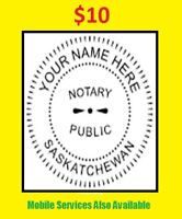 $10 Notary Public \Commissioner OF Oath Services