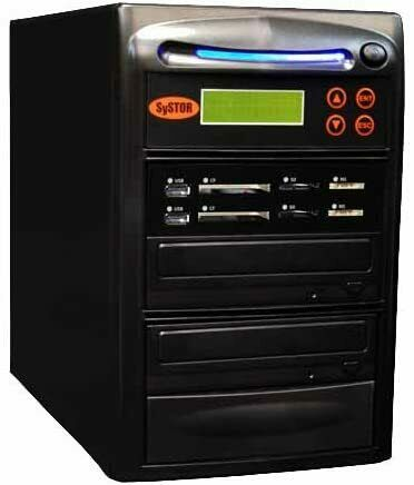 Systor 1:1 USB/SD/CF/MS Flash Memory Combo Card Duplicator - MDISC CD DVD Copier