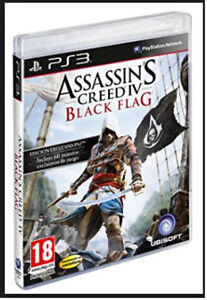ASSASSIN'S CREED 4 FOR PS3 + BLACK FLAG