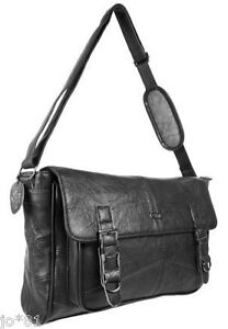 REAL LEATHER Handbag Satchel Office Work Messenger Tote Shoulder Ladies Mens Bag