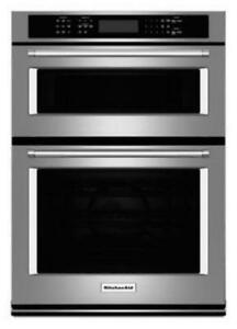 "KITCHENAID NEW KOCE507ESS 27"" COMBI, 4.3 CU FT + 1.4 CU FTTRUE CONVECTION,  SELF CLEAN (LOWER), 900 WATTS (BD-1554)"