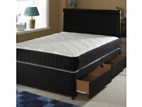 😜FABRIC DIVAN BED SET WITH MEMORY FOAM MATTRESS AND HEADBOARD DOUBLE KING SINGLE