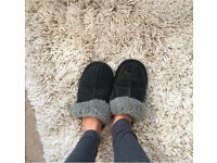 Well worn UGG slippers size 4.5