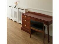 Small wooden vintage desk