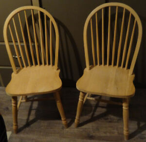 Two Oak Chairs - never used