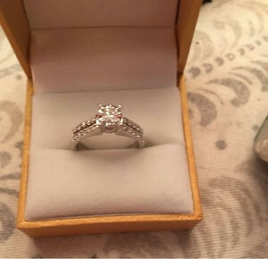 14k White Gold Engagement Ring .75ct -Or Trade equal value.
