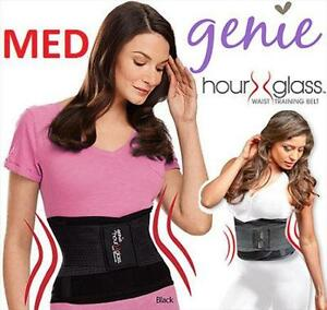 NEW GENIE HOURGLASS WAIST TRAINING BELT WOMEN'S MED BLACK  35329327