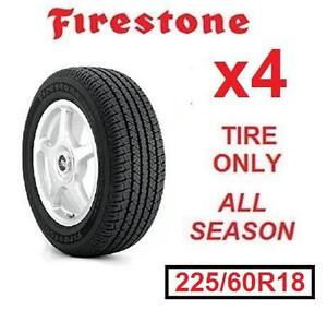 4 NEW FIRESTONE FR710 TIRES - 117083794 - 225/60R18 99T ALL SEASON