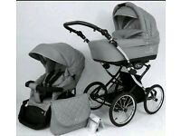 Nearly brand new classic pram!! Mint condition pet and smoke free home