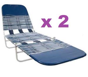 2 X Banana Outdoor Lounge Chairs Wavezone For Veranda Patio Sun