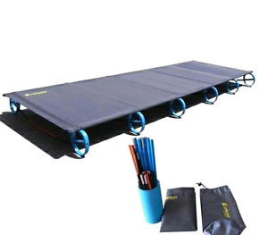 Cot camping bed NEW 2017 innovative. Folds to water bottle size