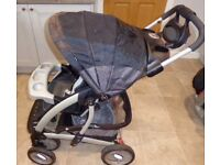 Trenton baby buggy system with car seat