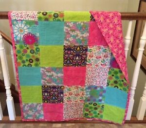 COLOURFUL BABY GIRL'S CRIB QUILT London Ontario image 1