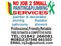 NO JOB 2 SMALL PAINTING AND PLUMBING SERVICES