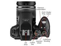 Fujifilm FinePix HS 10 digital camera and case