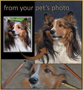 Professional Pet Portraits by Canadian Artist Colette Theriault